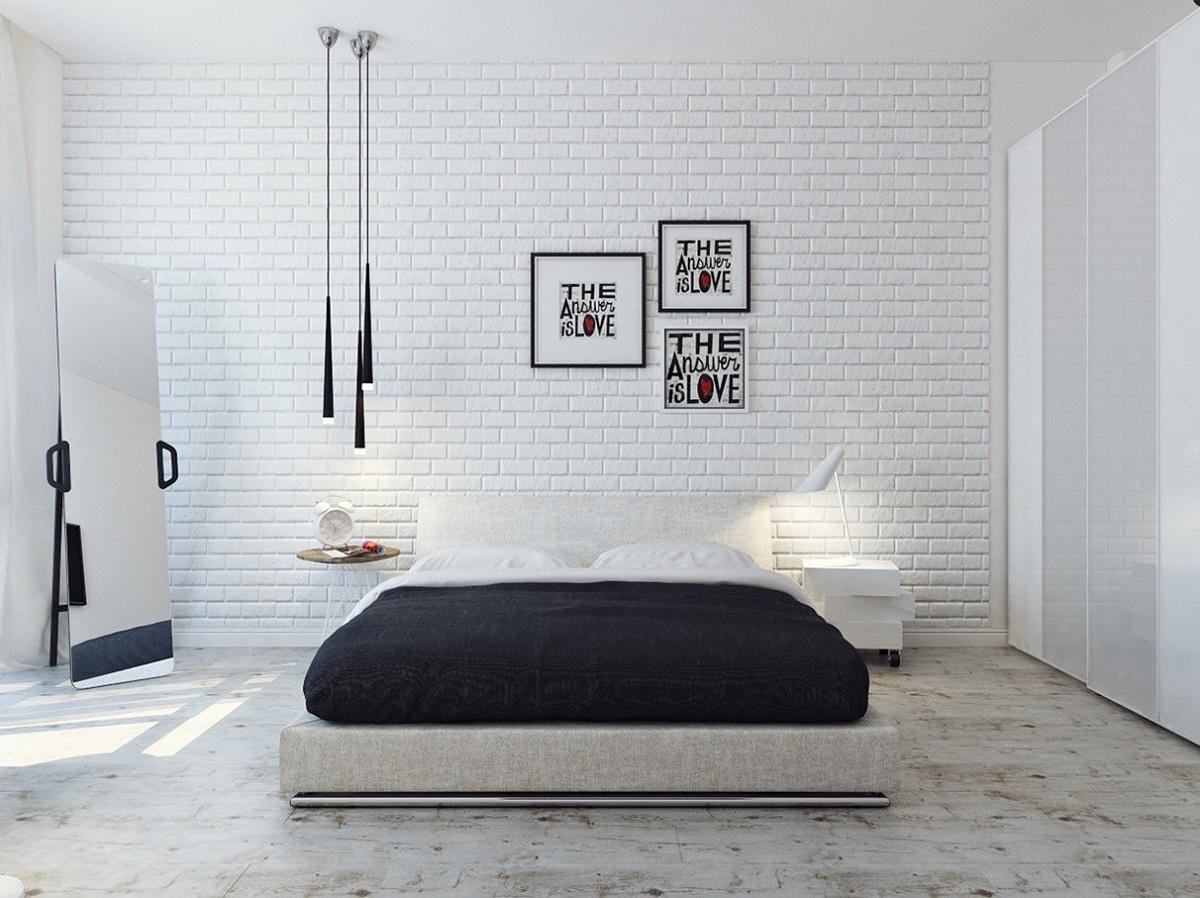 Decoratie Slaapkamer Muur : Hoe een grijze muur in de slaapkamer te versieren